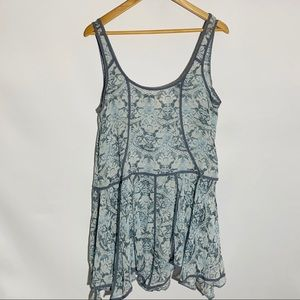Free People Intimately slate blue floral, size M